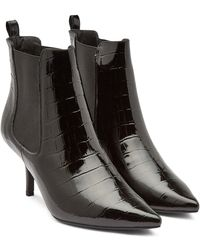 Anine Bing - Stevie Patent Leather Ankle Boots - Lyst