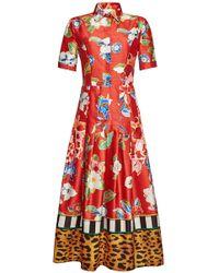 Stella Jean - Printed Maxi Dress - Lyst
