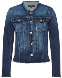 7 For All Mankind - Round Neck Jacket - Lyst