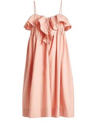 Three Graces London - Cotton Midi Dress - Lyst