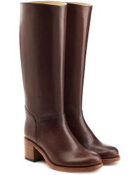 A.P.C. | Leather Knee Boots | Lyst