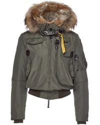 Parajumpers - Gobi Down Bomber Jacket With Fur-trimmed Hood - Lyst