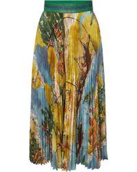 Stella Jean - Printed Pleated Skirt - Lyst