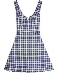Natasha Zinko - Plaid Dress - Lyst