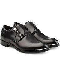 Alexander McQueen - Chaussures zippées en cuir - Lyst