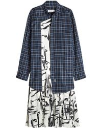 Balenciaga - Printed Shirt Dress In Cotton And Silk - Lyst