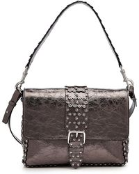 RED Valentino - Embossed Leather Shoulder Bag - Lyst
