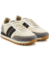 Brunello Cucinelli - Suede Trainers With Leather - Lyst