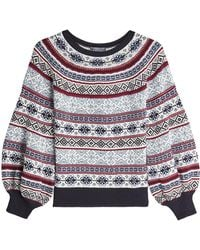Alexander McQueen - Jacquard Pullover In Silk, Wool And Cotton - Lyst