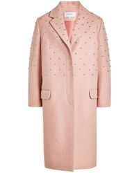 Carven - Embellished Coat With Wool - Lyst