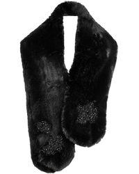 Simone Rocha | Embellished Faux Fur Scarf | Lyst