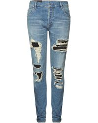 Balmain - Jeans im Distressed-Look - Lyst