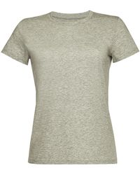 a7c7ba5f Vince Scoop Neck Tshirt in Gray - Lyst