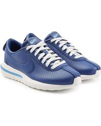 Nike - Roshe Cortez Leather Trainers - Lyst