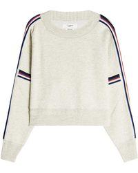 Étoile Isabel Marant - Pullover Kao mit Baumwolle, Wolle und Zierborten - Lyst