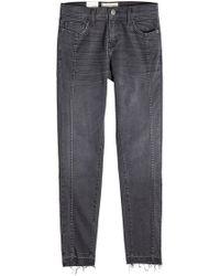Current/Elliott - The Seamed Easy Stiletto Skinny Jeans - Lyst