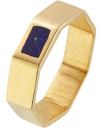 Pippa Small - Gold Plated Silver Ring With Lapis - Lyst