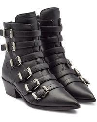 Zadig & Voltaire - Ankle Boots Libra aus Leder - Lyst