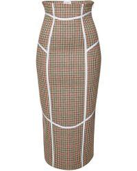 Stella Jean - Tunibo Houndstooth Pencil Skirt - Lyst