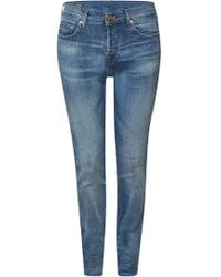 True Religion - Relaxed Skinny Jeans Rocco Comfort im Distressed Look - Lyst