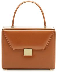 Victoria Beckham - Vanity Top Handle Leather Bag - Lyst