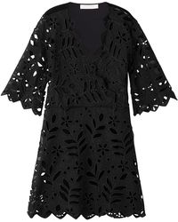 See By Chloé - Embroidered Cotton Dress - Lyst