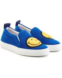 Joshua Sanders - Felted Wool Slip-on Sneakers - Blue - Lyst