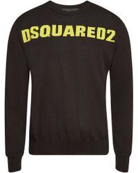 DSquared² - Gemustertes Sweatshirt aus Baumwolle - Lyst