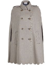 RED Valentino - Scalloped Cape With Wool And Silk - Lyst
