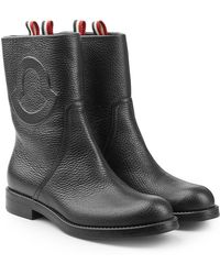 Moncler - Valentine Leather Ankle Boots - Lyst