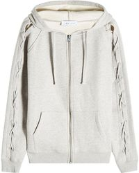 IRO - Zipped Hoodie With Lace-up Detail - Lyst