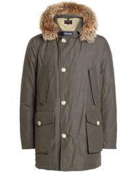 Woolrich - Arctic Down Parka With Fur-trimmed Hood - Lyst