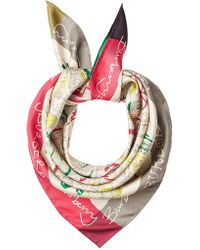 Burberry - London Icon Printed Silk Scarf - Lyst