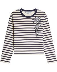 Carven - Striped Sweatshirt With Patch - Lyst