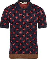 Marni - Knitted Polo Shirt - Lyst