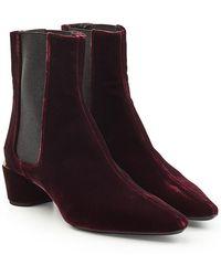 Jil Sander - Velvet Calf Boots - Lyst