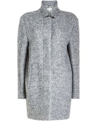 Closed - Coat With Mohair And Virgin Wool - Lyst