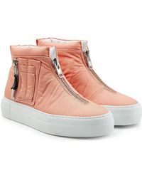 Joshua Sanders - Fabric Trainers With Zippers - Lyst