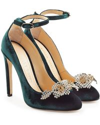 Chloe Gosselin - Helix Velvet Pumps With Embellishment - Lyst