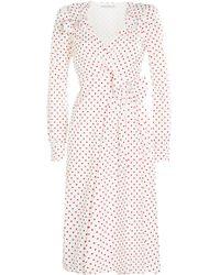 Alessandra Rich - Printed Taffeta Dress - Lyst