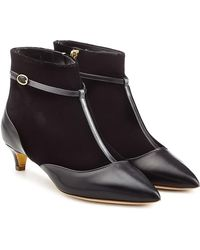 Rupert Sanderson - Dawn Velvet And Leather Ankle Boots - Lyst