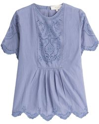 Vanessa Bruno Athé - Cotton Top With Embroidery - Lyst