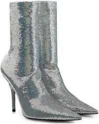 Balenciaga - Knife Sequin Ankle Boots - Lyst
