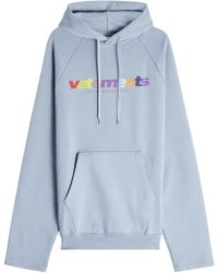 Vetements - Printed Cotton Hoody - Lyst