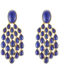 Aurelie Bidermann - 18kt Gold Plated Lapis Lazuli Earrings - Lyst