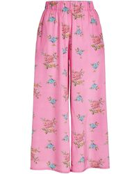 Natasha Zinko - Printed Silk Culottes - Lyst