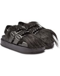 Simone Rocha - Leather Sandals With Crystal Embellishment - Lyst