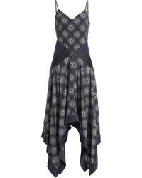 Diane von Furstenberg - Ärmelloses Seidenkleid mit Print - Lyst