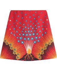 Valentino - Volcano Mini Skirt With Virgin Wool And Silk - Lyst