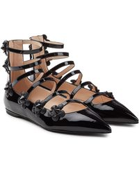 Fendi | Embellished Patent Leather Ballerinas | Lyst